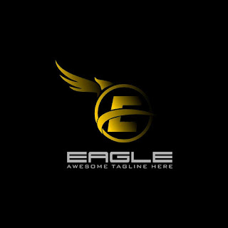 Letter E Eagle Wing Logo Template Free Download Vector CDR, AI, EPS and PNG Formats