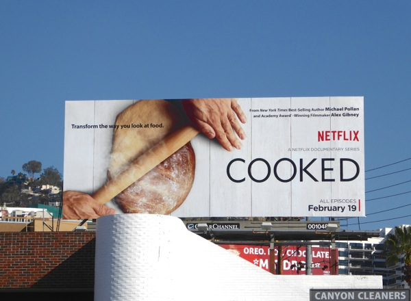 Cooked series launch billboard
