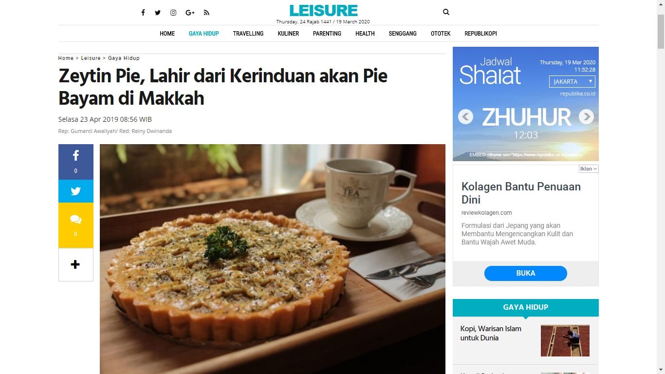 Zeytin Pie Di Republika.co.id