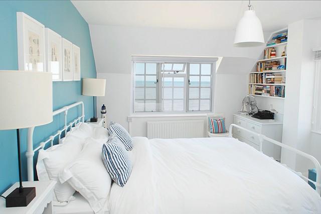 coastal bedroom with ocean view
