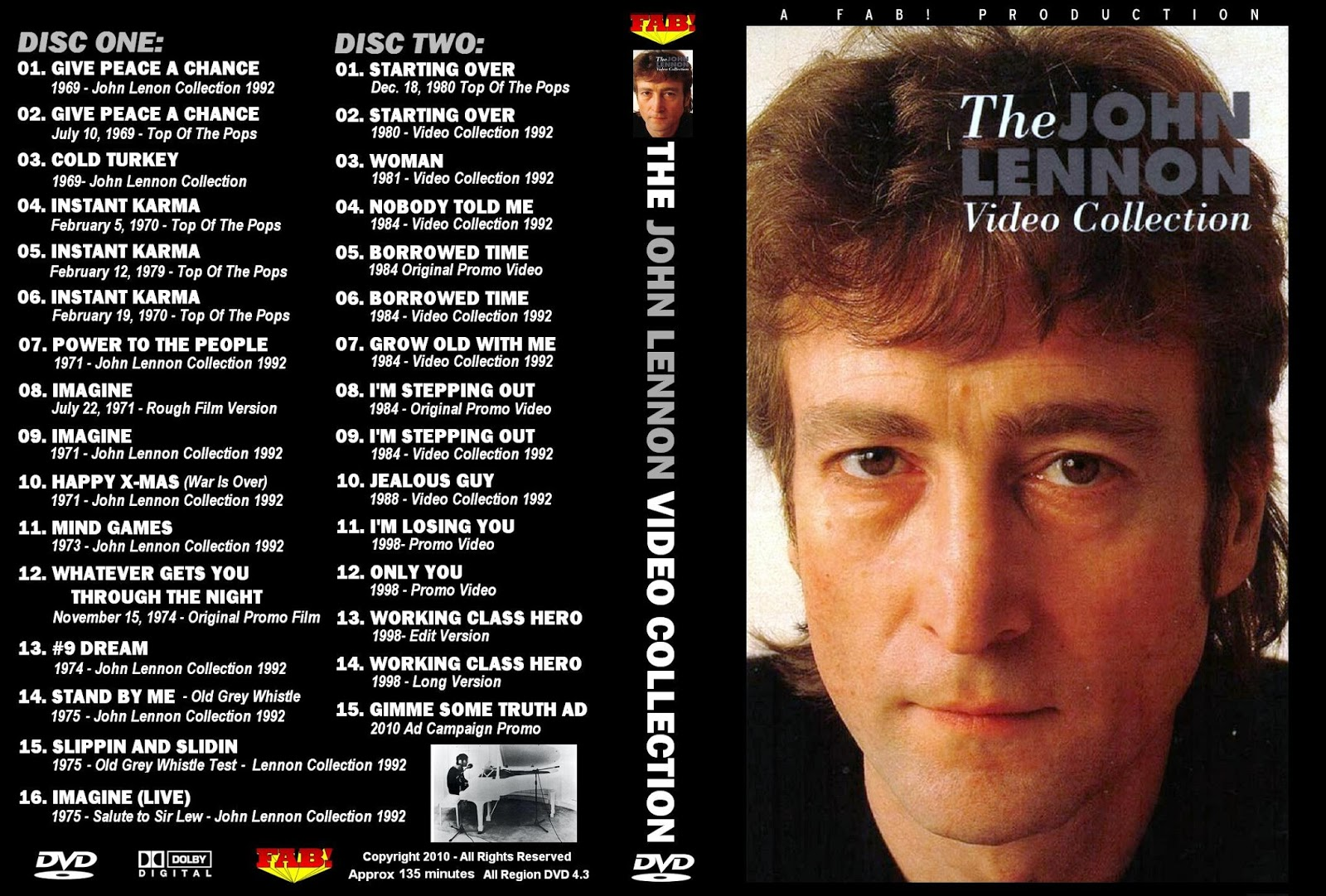John Lennon - The Video Collection 2XDVD
