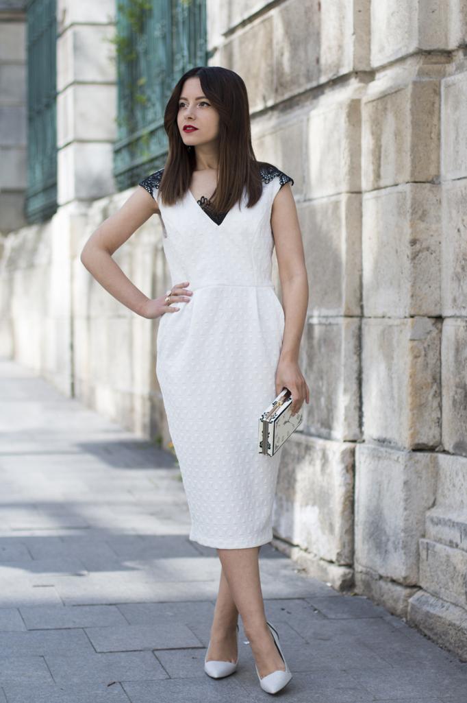 white dress street style