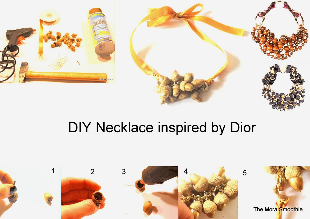 diy Dior, necklace Dior, fashion diy