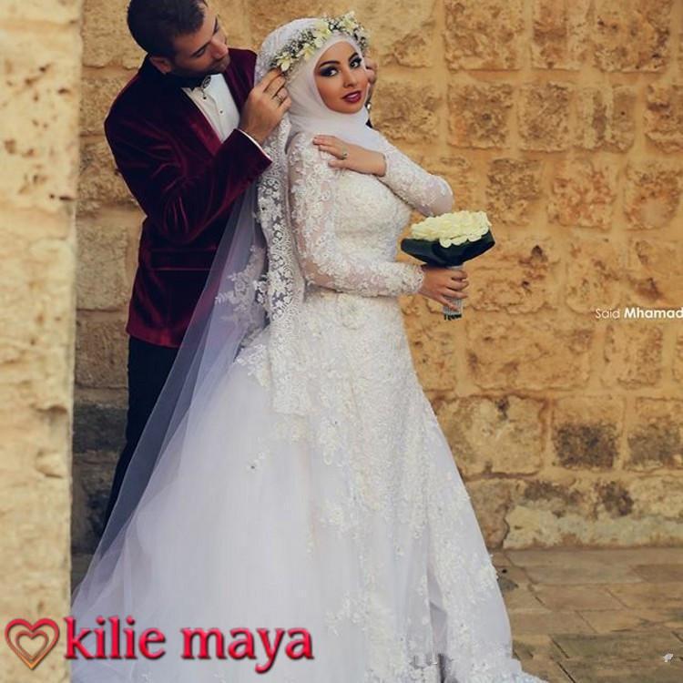 196960ef319 Robe De Mariée 2019 Hijab