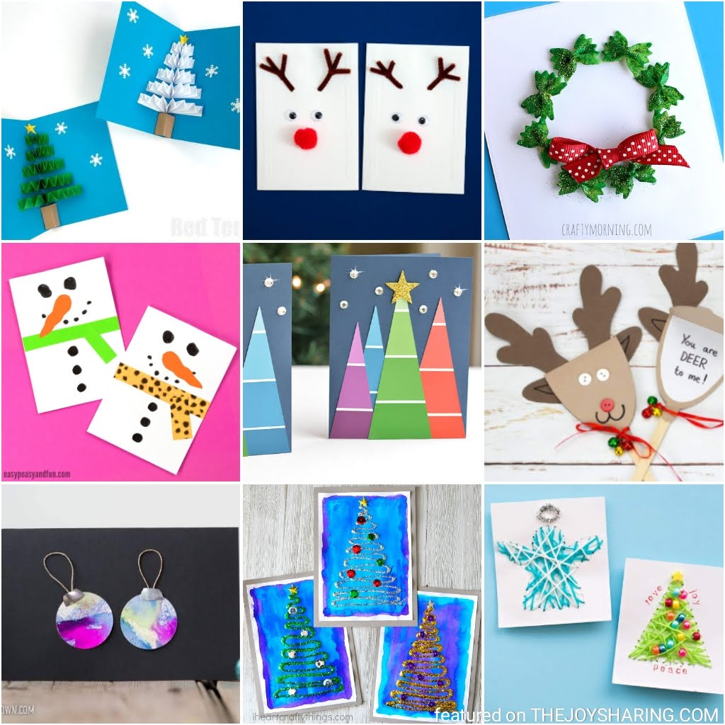 20 Simple Christmas Cards Kids Can Make The Joy Of Sharing