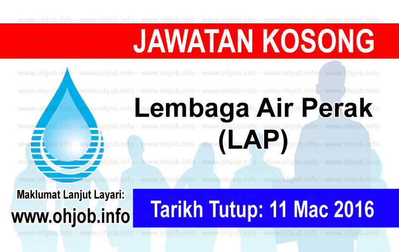 Jawatan Kerja Kosong Lembaga Air Perak (LAP) logo www.ohjob.info mac 2016