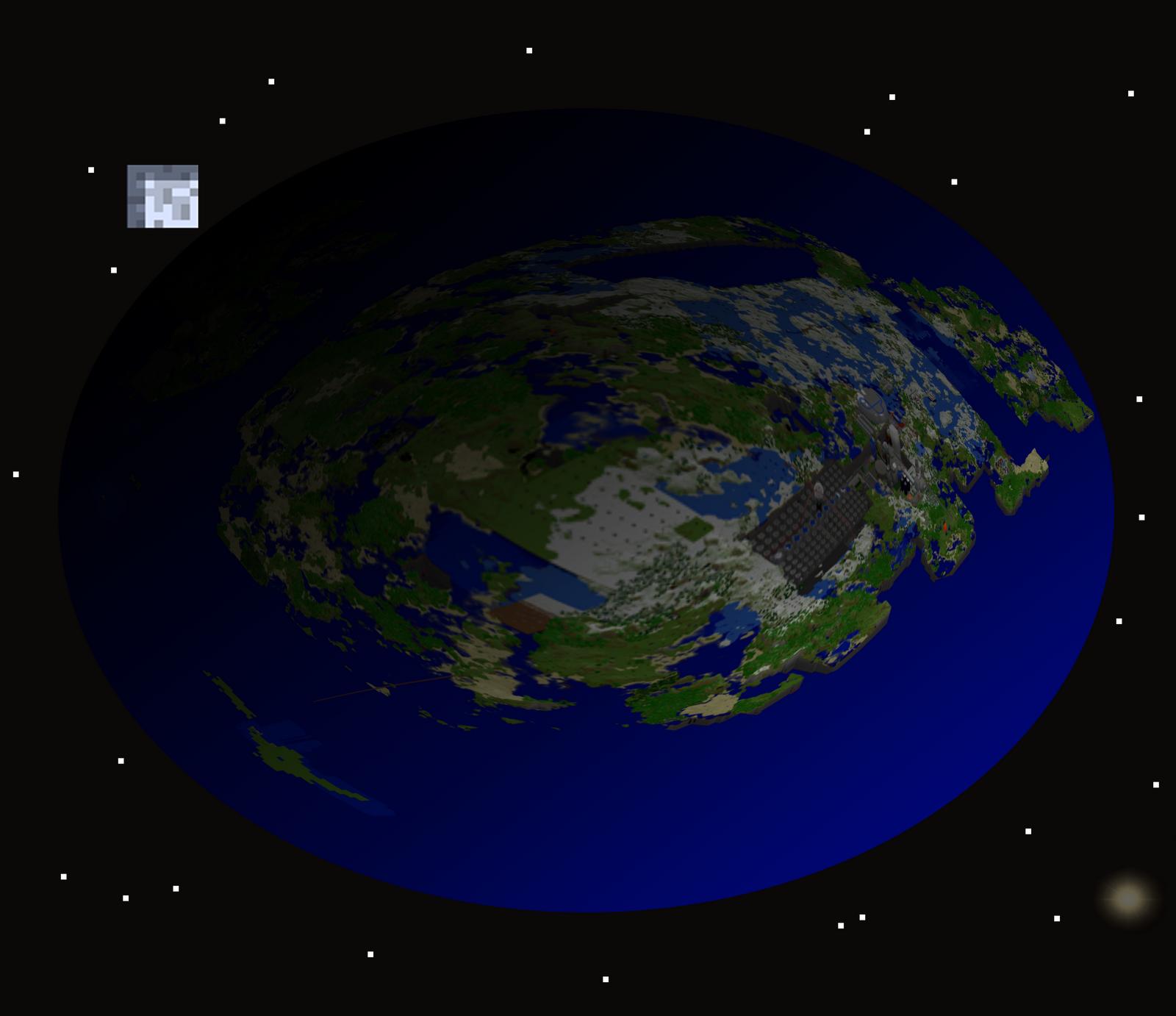 Creative Pixel Art Minecraft Planet