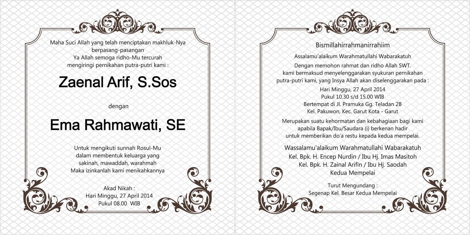Download Undangan Pernikahan Format Cdr Housepolar
