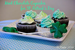 St. Patrick's Day Mint Chocolate Cupcakes