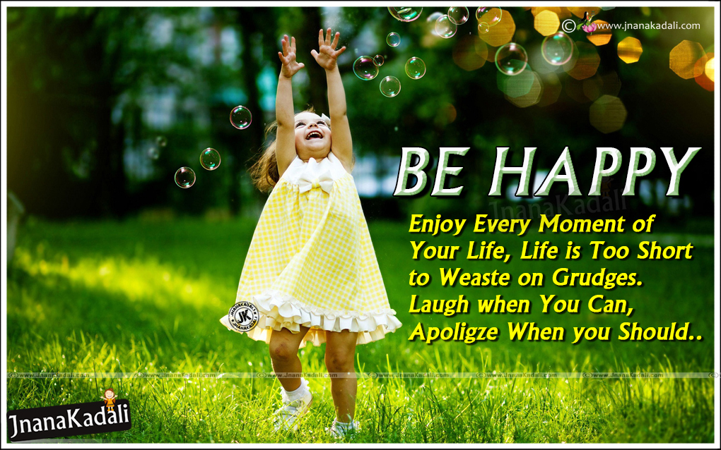 Be Happy Enjoy Every Moment Inspirational Quotes with Cute ...