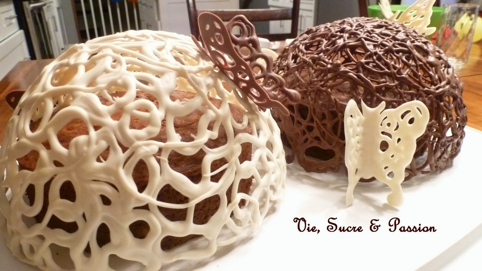 Chocolate Domes and Butterflies (Banana breads)