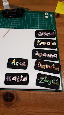 keychain, breloczki, imienne, z imieniem, imiona, strips, paski, kolorowe