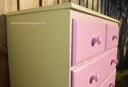 Yellow and Pink Chest of Drawers Perfect for a Little Girl's Room