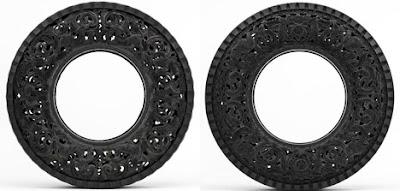 Llantas o neumáticos  muy artísticos.