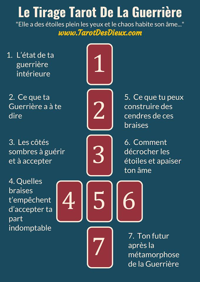 Le Tirage Tarot De La Guerrière - Infographic