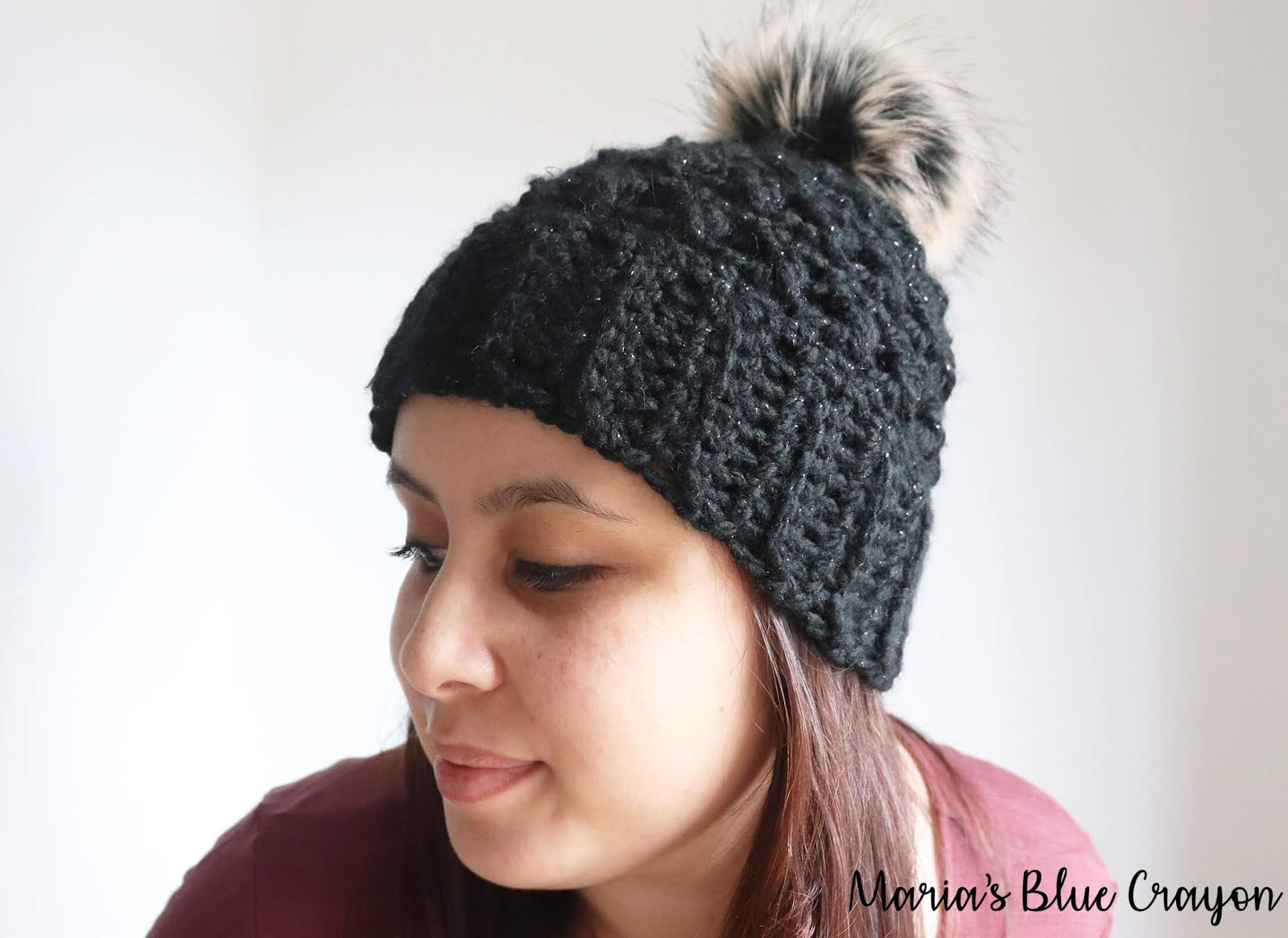 Chunky Crochet Beanie With Pom Pom Free Crochet Hat Pattern