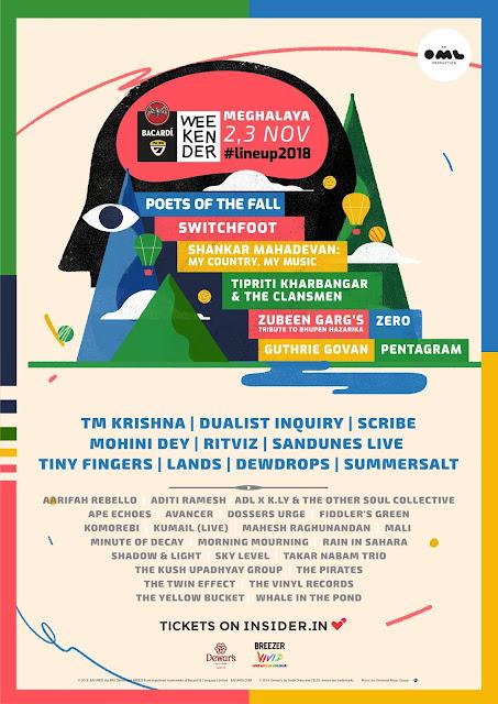 NH7 Weekender 2018 Meghalaya Lineup