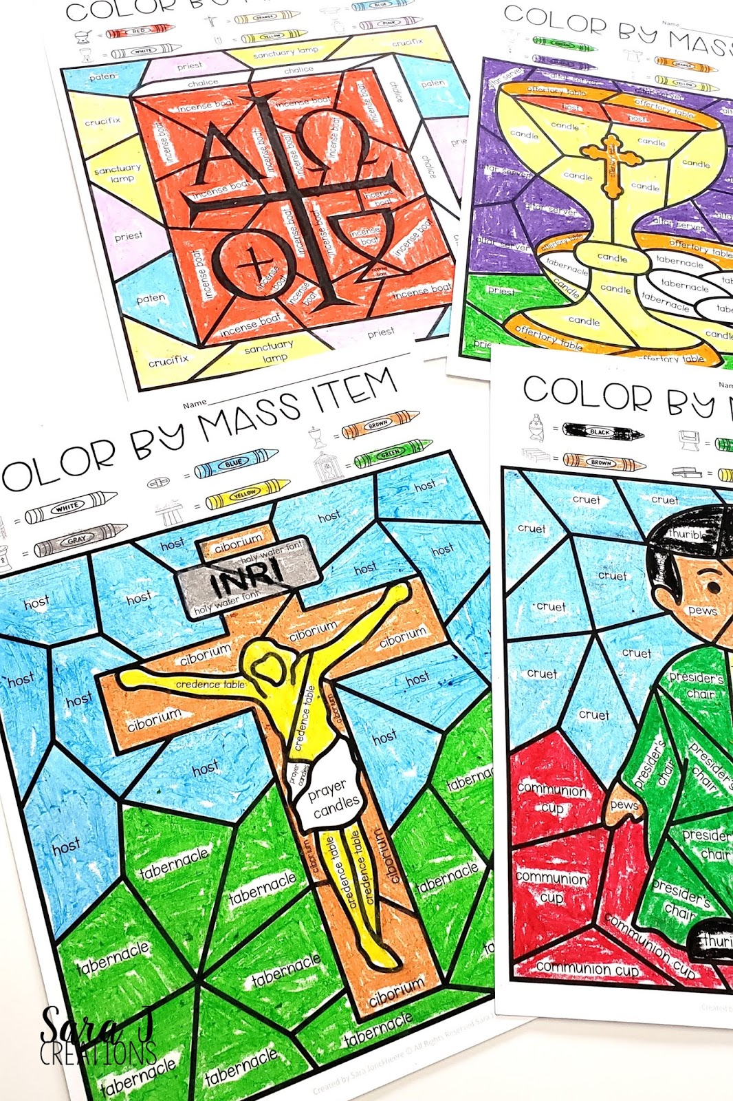 Stations of the Cross Printable Coloring Book/Coloring Pages for ...   1600x1066