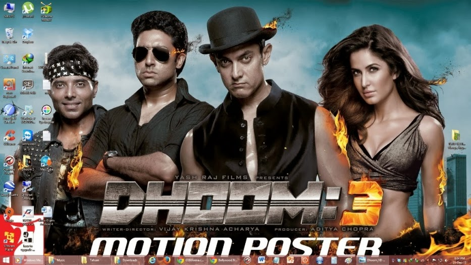 Dhoom 3 Aamir Khan Windows theme free download