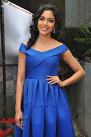Actress Ritu Varma Pos in Blue Short Dress at Keshava Telugu Movie Audio Launch .COM 0074.jpg