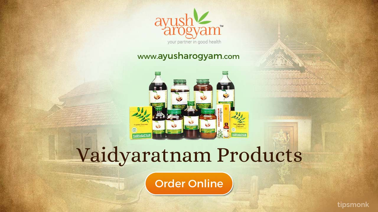Ayush Arogyam - Best place to order Vaidyaratnam products online