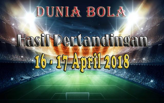 Hasil Pertandingan Sepak Bola Tanggal 16 - 17April 2018