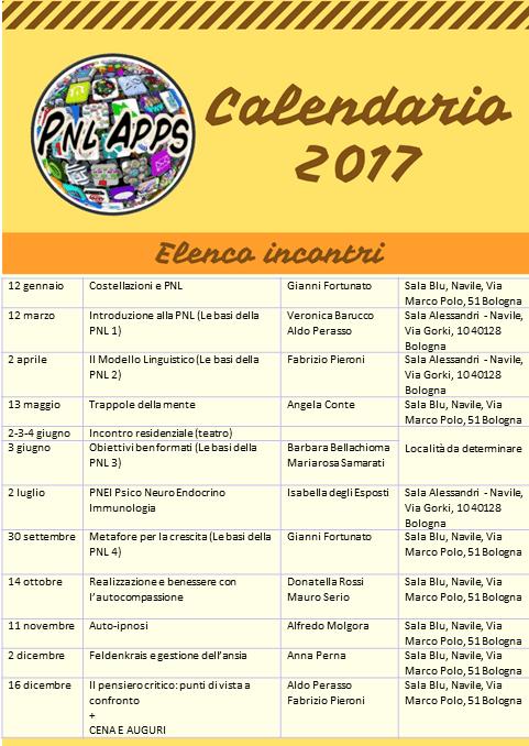 calendario PNL Apps 2017