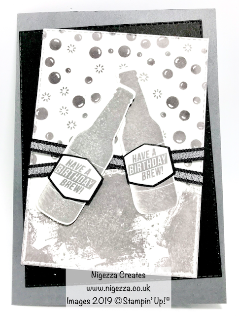 Masculine Birthday Card Using Bubble Over Stampin' Up! Nigezza Creates
