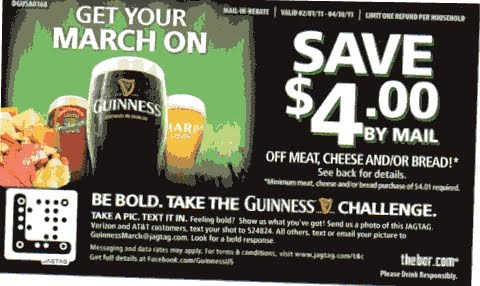 Coupon STL: Guinness Beer Rebate - Save $4 on Meat, Cheese and/or Bread