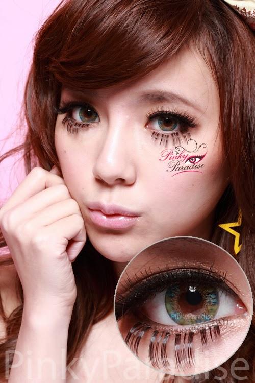 Vassen Rainbow Eyes Greenish Blue Circle Lenses (Colored Contacts)