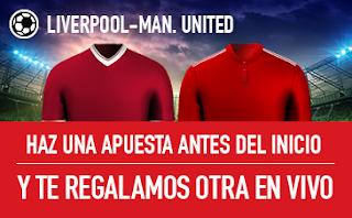 sportium promocion Liverpool vs United 14 octubre