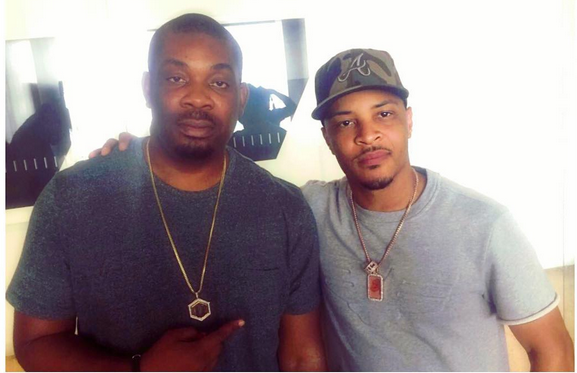 Don Jazzy, T.I Pose for Camera In LA