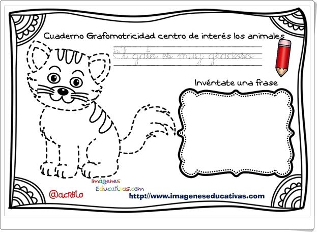 """""""Cuaderno de gramotricidad con centro de interés en los animales"""""""