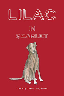 Front cover image: Red background with dog.