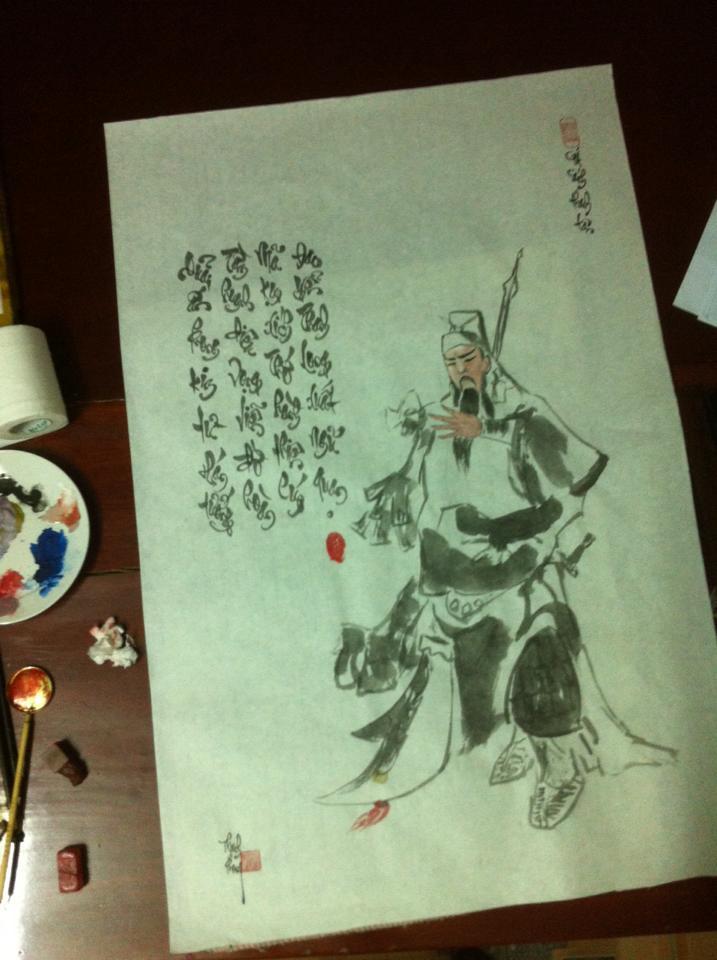 Viết thư pháp tại Ninh Bình