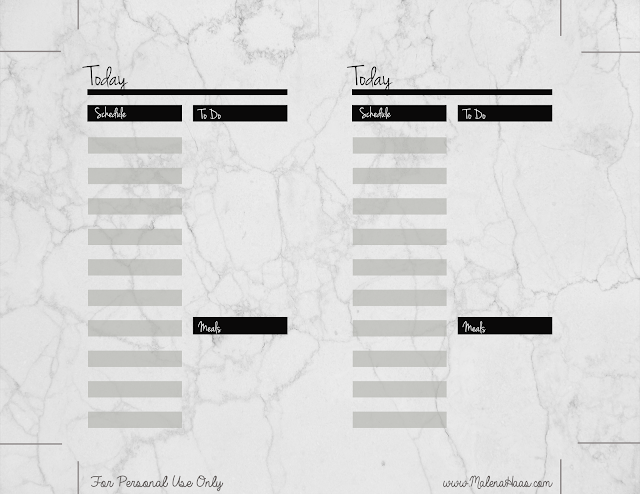 Free Double Sided Daily Insert Printable - www.MalenaHaas.com