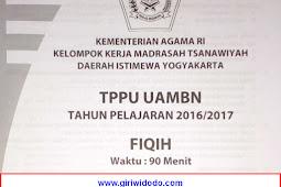 Soal TPPU UAMBN MTS DIY 2017 – Fiqih