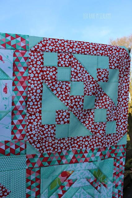 Der Rabe im Schlamm, Quiltlayout, Quilt, 6 Köpfe 12 Blöcke, Quilttop, Quiltblock, Riley Blake, The Cottage Garden, Primrose Garden