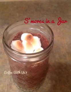 S'mores in a Jar by Coffee With Us 3 #recipes #chocolate #dessert