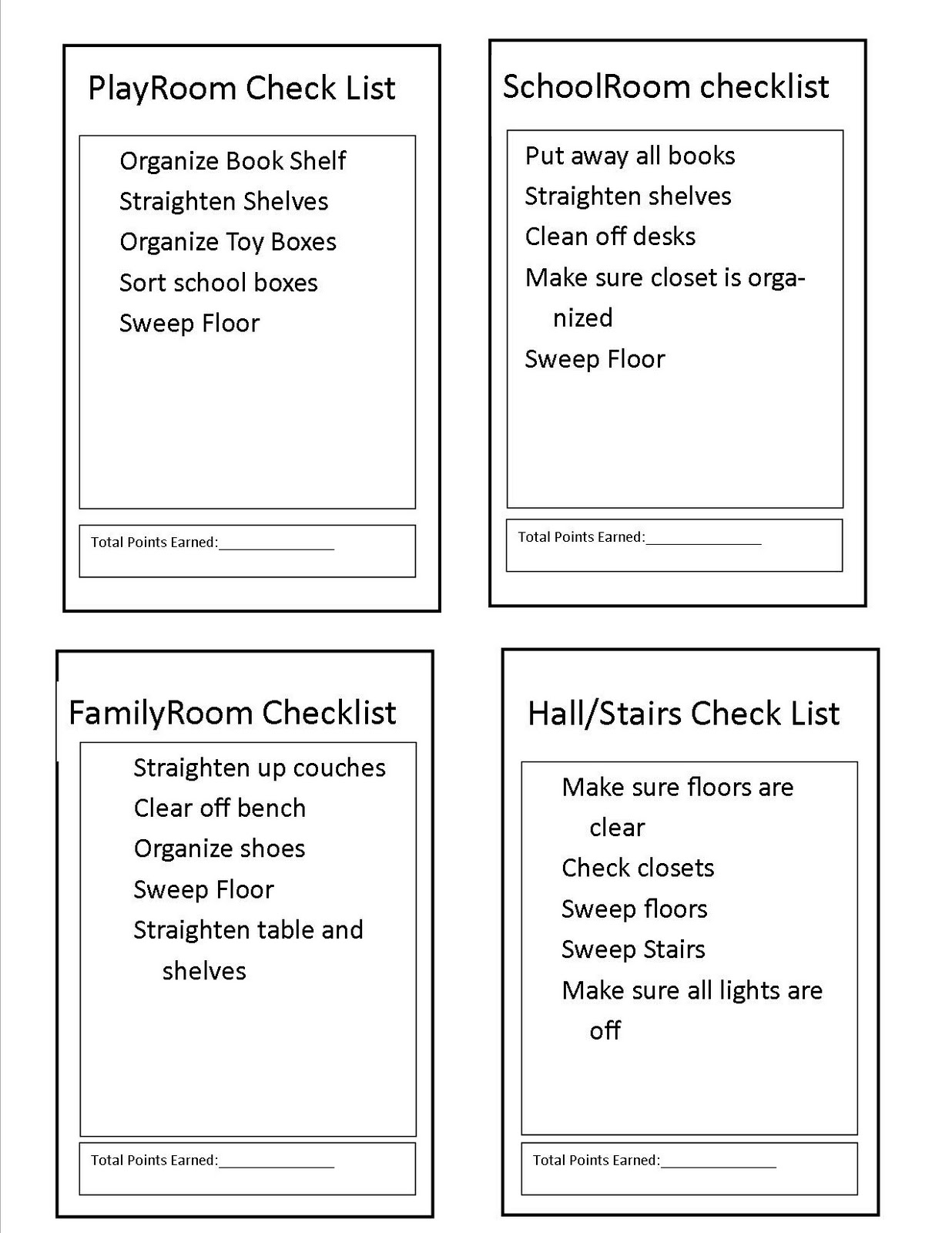 Blessed Little Homestead Chore Lists And Rewards Charts