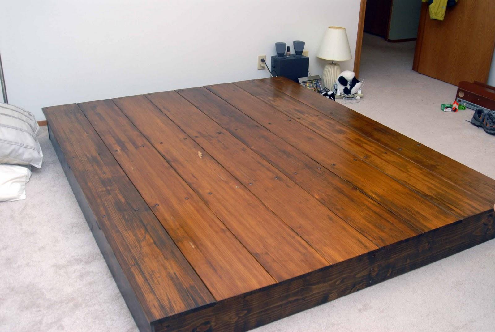 Simple Wood Bed Frame Jambu Bedroom