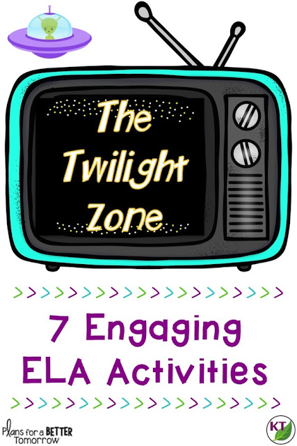 7 cooperative activities to practice ELA skills: comprehension, making inferences, using evidence to support answers, identifying elements of plot (characters, setting, rising action, climax, falling action, resolution), theme, point of view, conflict, writing summaries, narrative writing, expository writing, and using persuasive writing in social media marketing.