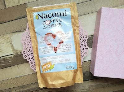 NACOMI: Coffee Scrub, Peeling kawowy na bazie kawy robusty i olejków zimnotłoczonych wersja kolosowa