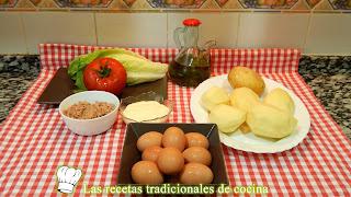 Receta de Tortilla de patatas rellena