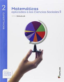 Libro Matemáticas II CCSS 2º Bachillerato Santillana Proyecto Saber Hacer Serie Resuelve
