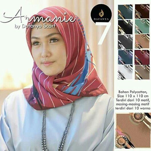 Jilbab Segi Empat Armanie Cantik
