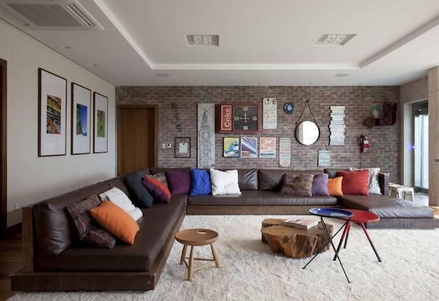 decoração-sala-com-sofá-de-canto