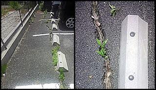 駐車場のひび割れ