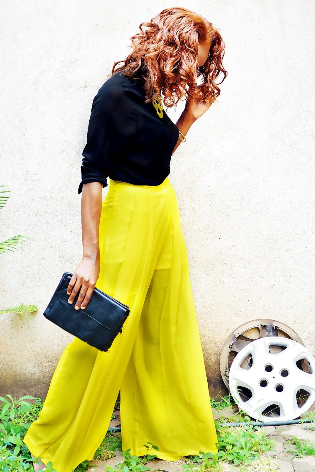 palazzo pants, chiffon sirt, open back crop top, high waist palazzo pants, what to wear kenya, african fashion blogger, kenyan fashion blogger, Ezil