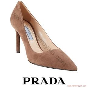 Countess of Wessex wore PRADA Suede Pumps